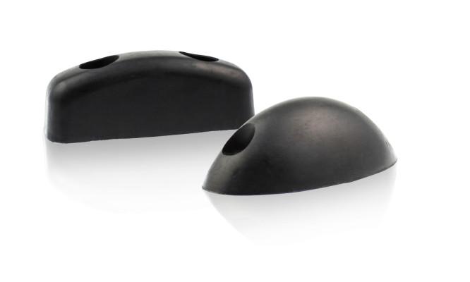 Ovale Rammpuffer mit Befestigungslöchern