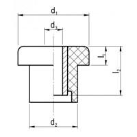 Verbindungselemente mit Buchse Ø16x44,5 NK 55°Shore Stahl verzinkt